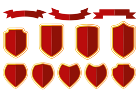 Blason / escudo / vector de cinta