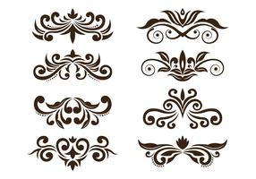 Set Of Cartouche Vector