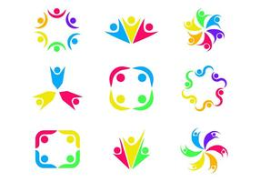 Lavorando insieme Logo vettoriale