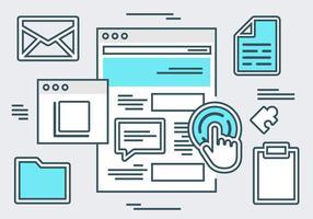 Fondo di vettore di elementi piatto sito Web gratuito