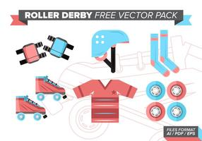 Roll derby pack vectoriel gratuit