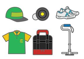 Lawn Bowls Vector Elements