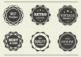 Free Vector Grungy Eroded Labels