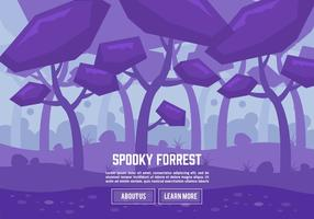 Flat Spooky Forrest Vector Background