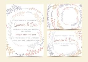 Pastel-plant-vector-invitation