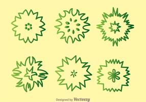 Plant Top View Green Outline Icons