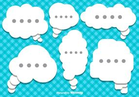 Vector Flat Style Speech Bubbles