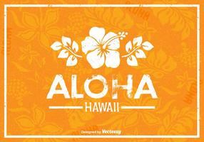 Free Hawaii Vector Retro Poster