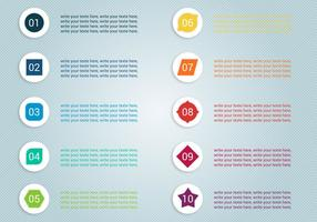 Gratis Nummer Bullet Points Vector