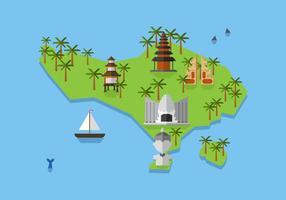 Mapa de Bali Vector
