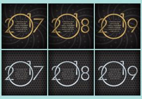 New Year Templates vector