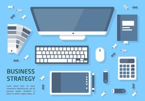 Free Flat Business Strategy Vector Illustration