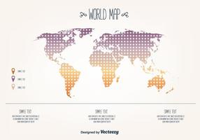 Gratis World Map Vector