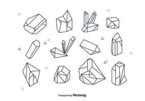 Geometriska kristaller Vector Set