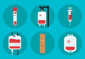 Blood Drive Vector Icons