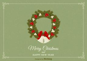 Christmas Wreath Vector Card