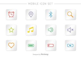 Mobile Vector Icon Set