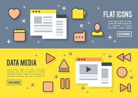 Free Flat Media Player Icons Vector