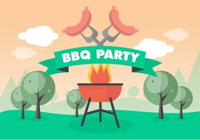 Free Bbq Picnic Vector Background