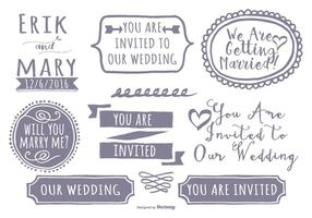 Cute Hand Drawn Style Label Set vector