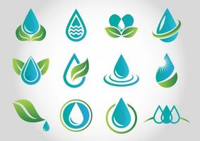Aqua Water Logo Vectors