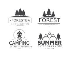 Typografiska Camp Label Vectors