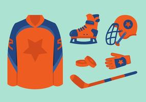 Equipos de hockey vectorial