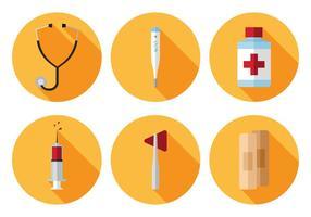 Conjunto de iconos médicos vectoriales vector
