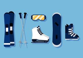 Equipamentos de esquiador de vetores