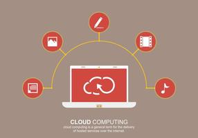 Cloud computing social vektor