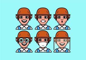 Vektorbonden pojke
