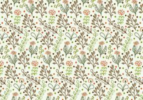 Vector libre Doodle fondo floral