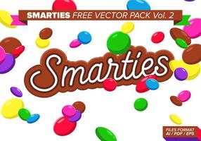 Smarties pack vecteur gratuit vol. 2