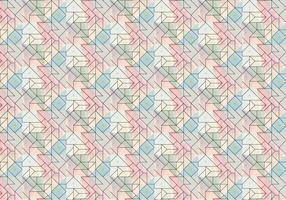 Geometric Outline Brush Pattern vector