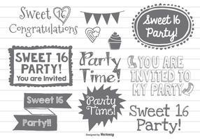 Sweet Sixteen Doodles
