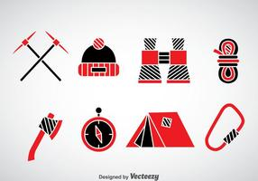 Mountaineer Iconos Vector