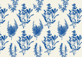 Blaues Toile-Muster