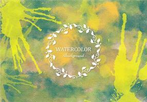 Gratis Vector Green Boho akvarell bakgrund