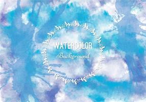 Gratis Vector Blauwe Waterverf Achtergrond
