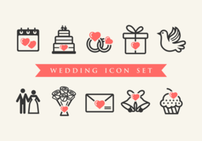 Vetores de ícones Casamento