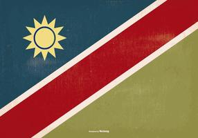 Bandeira de Namíbia de estilo antigo vetor