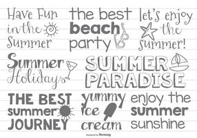 Cute Hand Drawn Beach / Summer Label
