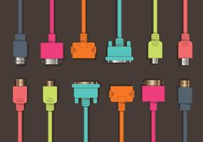 Colorful HDMI Vector Set