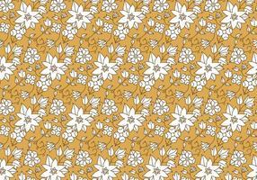 Blanco patrón floral