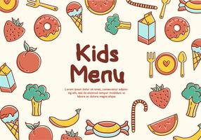 Free Kids Menu Vectors