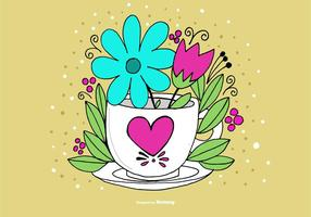 Coffee Cup Vase Vector