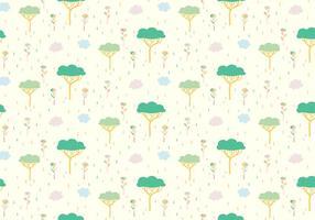 Arbre Plantes Pastel Pattern