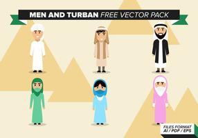 Pack de vecteur gratuit masculin et turban