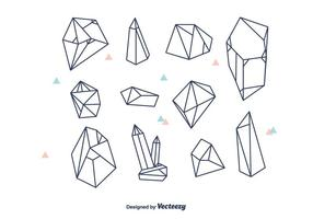 Geométricos, cristales, vector