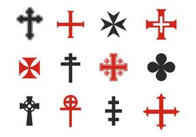 Free Various Cross Symbol Vectors